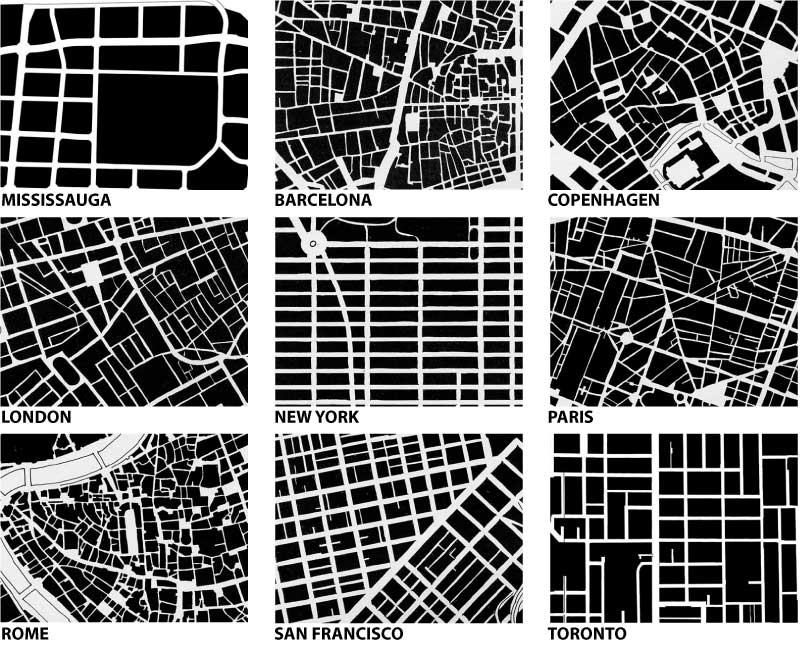 Bricoleurbanism urban fabric form comparison for Room planning grid
