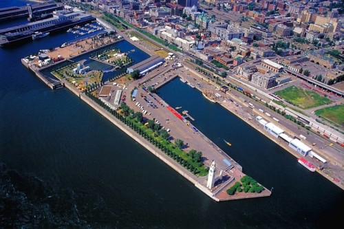 Old Port of Montreal from the air