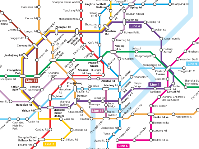 Shanghai Subway Map Vs Acutal.Bricoleurbanism China