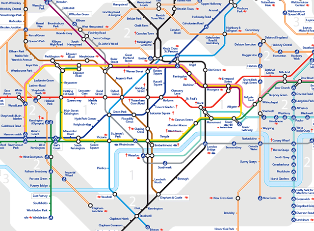 Bricoleurbanism Shanghais Metro and Londons Tube Head to Head – London Travel Zone Map