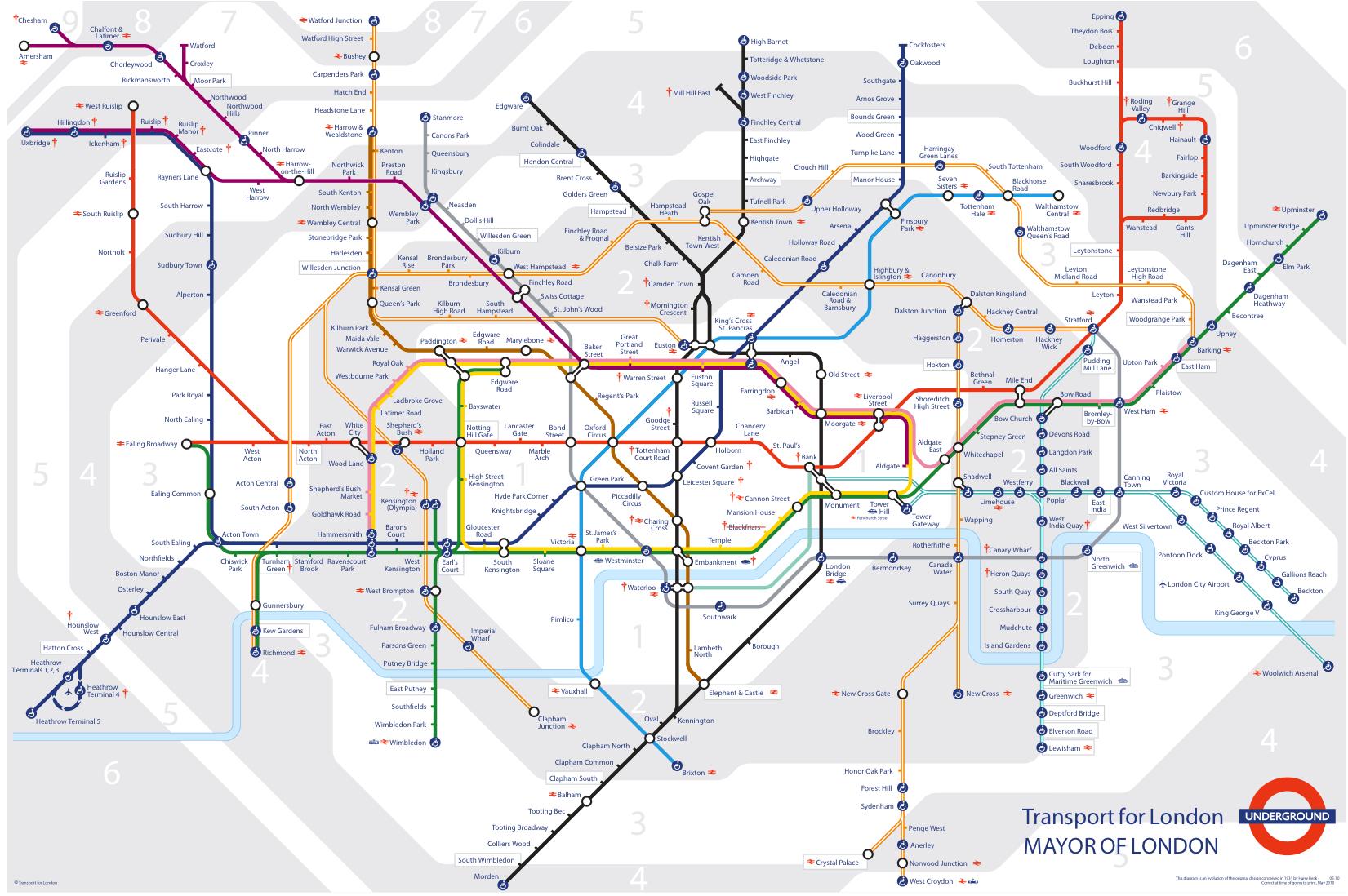 Zone 1 6 Map Bricoleurbanism » Shanghai's Metro and London's Tube Head to Head Zone 1 6 Map